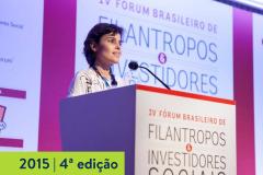 2015   4ª edição do Fórum Brasileiro de Filantropos e Investidores Sociais