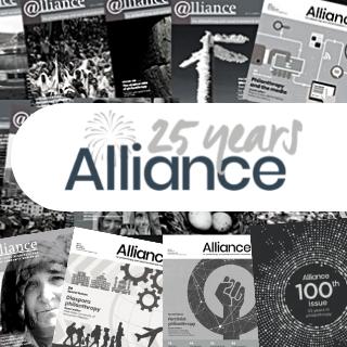 AllianceMagazine_100thissue_25 years